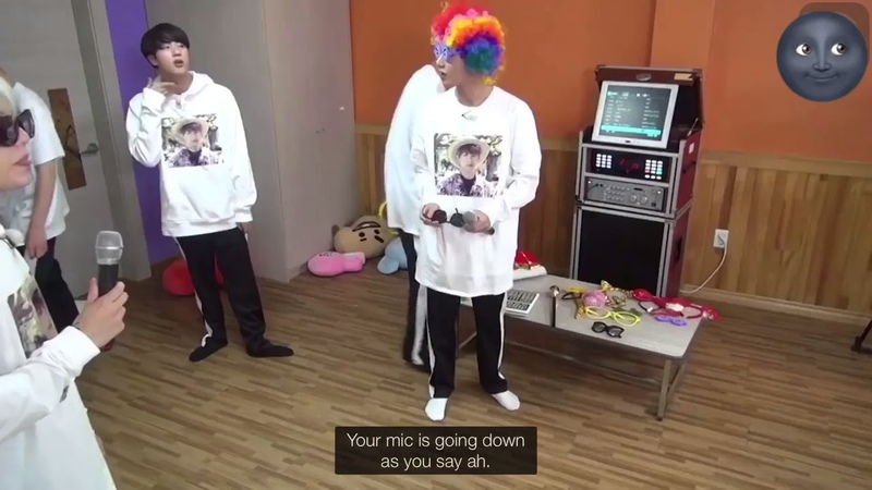 Suga V - New face (psy) karoke RUN BTS!
