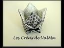 Vide-poche origami - Panier Tulipe - Ballotin / Cesta tulipán vacíabolsillos / Subtitulo enespañol