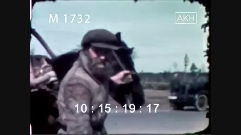 Уникальная немецкая цветная кинохроника периода оккупации.