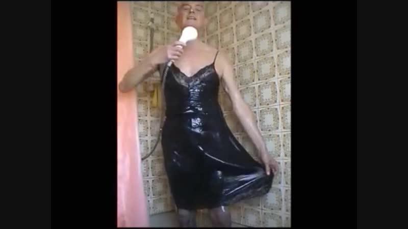 Black slip shower.