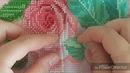 МОНАСТЫРСКИЙ ШОВ пришивания бисера в ДВА ПРОКОЛА организация бисера закрепление нити