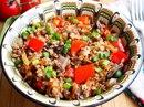 Гречка с грибами и овощами в духовке - идеальный гарнир!