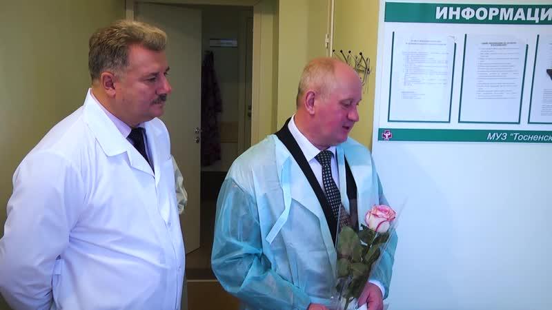 Глава Тосненского района и и.о. главного врача Тосненской КМБ поздравили с наступающим Днём матери рожениц Тосненского роддома