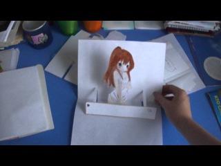 ИДЕЯ №1.Как сделать необычные аниме открытки и открытки по время приключений!