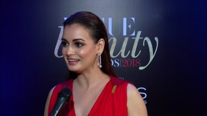 Dia Mirza at the Red Carpet of Vogue Beauty Awards 2018