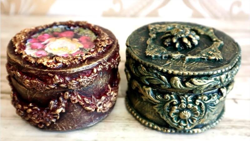 DIY craft. How to Make Jewelry Box. Organizer For Jewelry