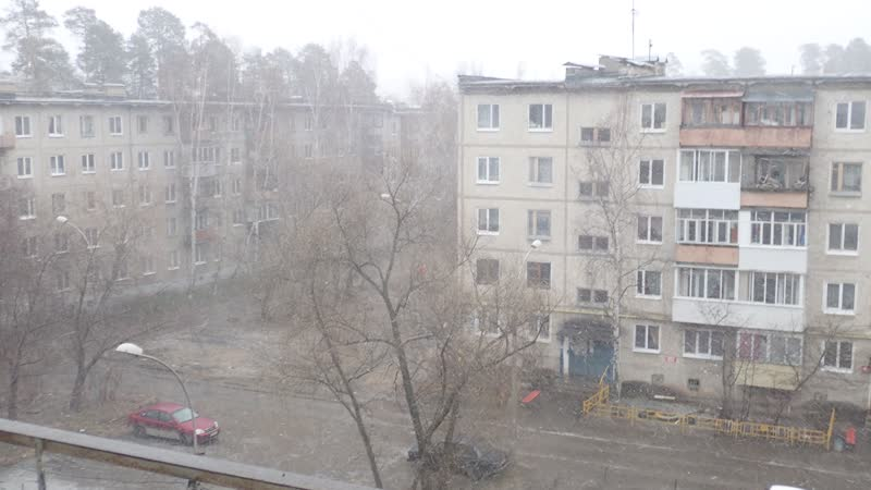 Пермь. Закамск. Зима вернулась 26.04.2019