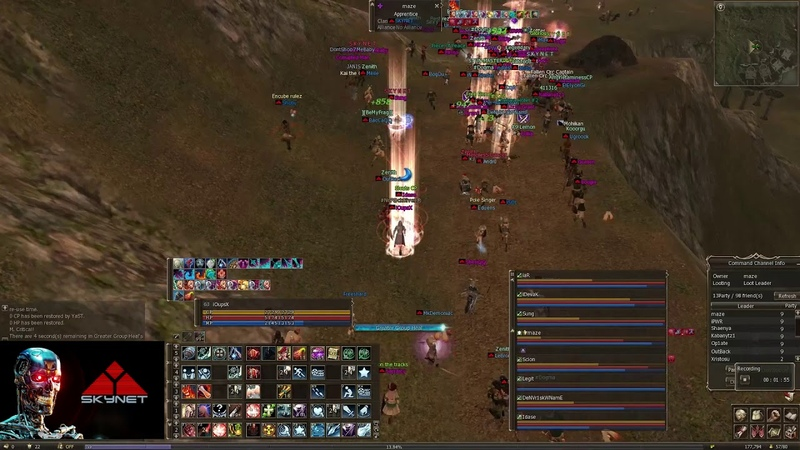 Lineage 2 Classic Giran server Skynet Clan making fun with Zerg!! ~ Bishop PoV ~ 140ms CP