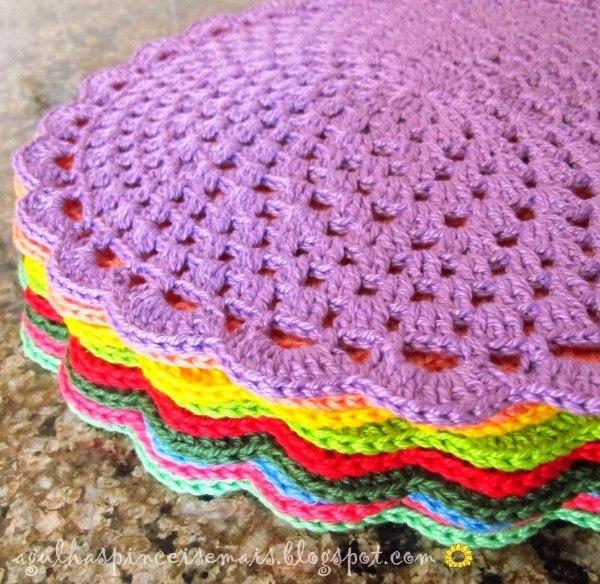 Delicadezas en crochet gabriela: individuales para la cocina en ...