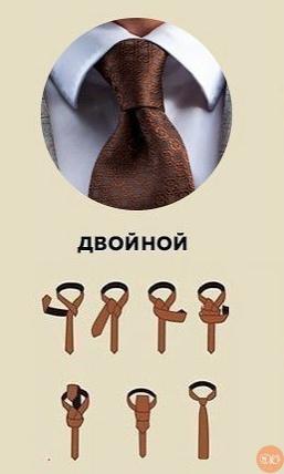 6 популярных узлов на гaлстуке