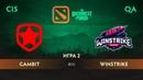 Gambit vs Winstrike карта 2 The Bucharest Minor Закрытые квалификации СНГ