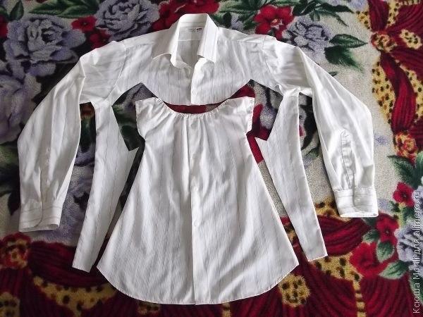 Детское платье из рубашки. Мастер-класс....
