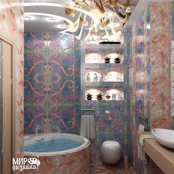 Ванная в восточном стиле (1 фото)
