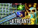 OMG TREANTS ATTACK 4 Treants Cancer Strat by Moon 7 05 Nature Prophet Rat Style Dota 2