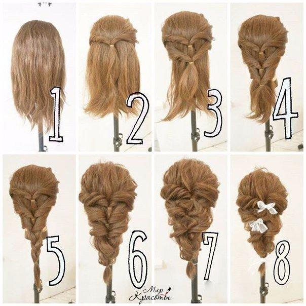 Простые прически для непослушных волос