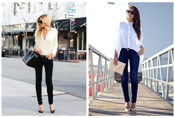 Базовый гардероб современной девушки:   1. Идеальные джинсы - 2шт. Одни светлее, другие темнее. Главное, чтобы они были