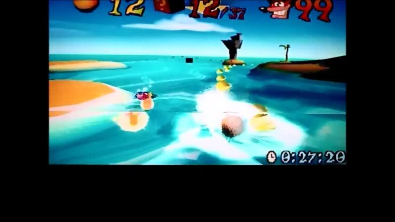 Crash Bandicoot 3:Warped(PAL-version). Time Trial. Makin Waves. Старты 22:хх