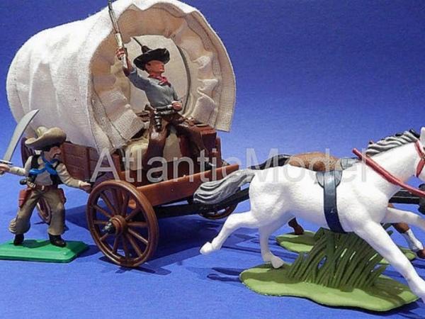 Солдатики 1 32 DSG Обоз с мексиканцем и ковбоем