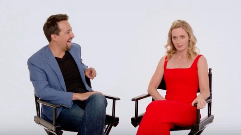 Мэри Поппинс возвращается интервью с Эмили Блант и Лин Мануэлем Мирандой