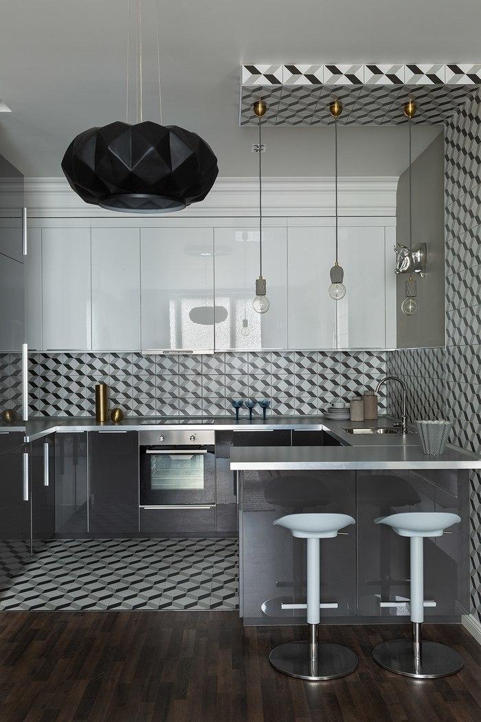 Московская квартира 95 м² с желтыми акцентами и мебелью в стиле ретро #дизайн #Квартира