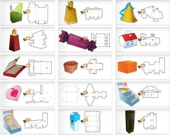 Схемы подарочных коробок