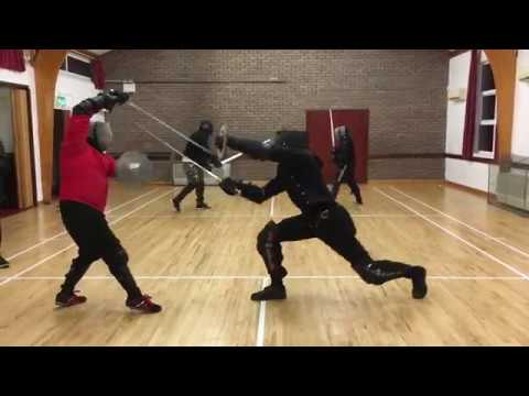 Sidesword Buckler Sparring - Jordan vs Nick