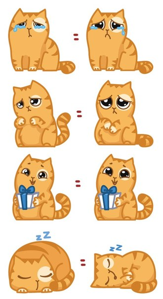 Как сделать стикеры кошек вк