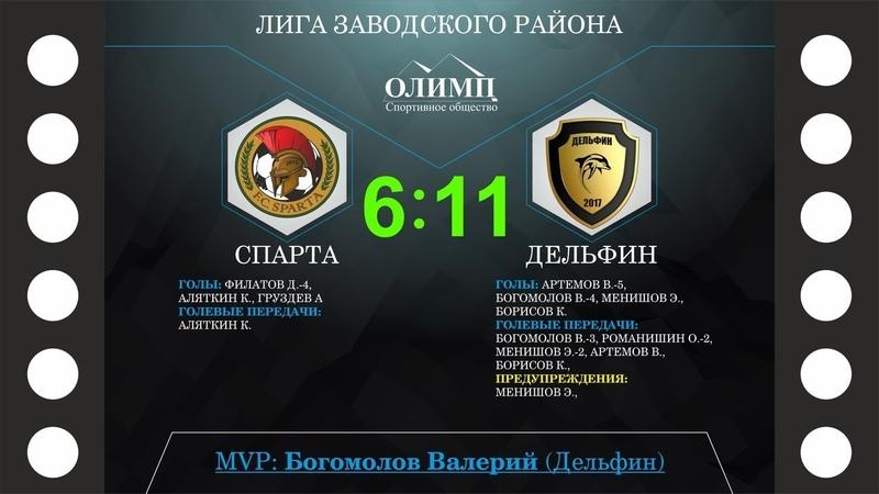Лига заводского района - Спарта - Дельфин 611