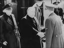 Jozef Tiso a Vojtech Tuka na stretnutí s Adolfom Hitlerom. Rok 1944.