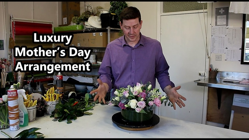 Luxury Mother's Day Arrangement Roses Tulips Liliac Blossom