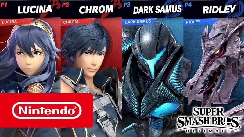 Super Smash Bros Ultimate Темная Самус против Крома 2 на 2 Stage Morph