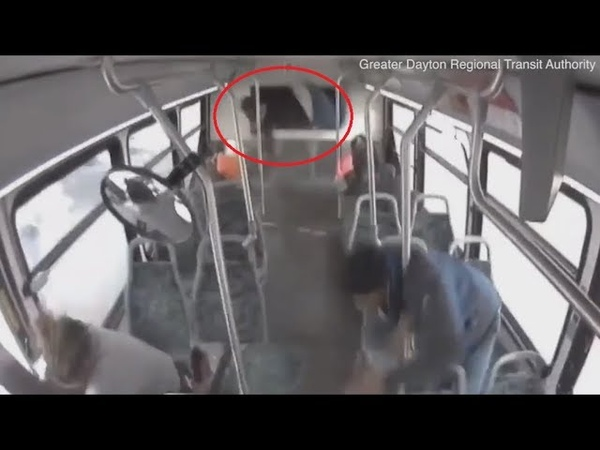 Ohio bus crash Footage shows RTA bus overturning as passengers are flung from their seats