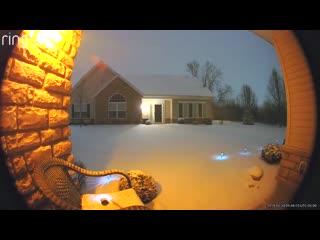 Снежная гроза в Колумбусе ( Огайо, США, 20.02.2019)