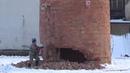 Balls of steel - demolition of the chimney