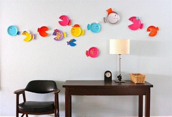 Поддеки из бумаги и прочего:мастерим рыбок с детьми!.  Комментарии : LiveInternet - Российский.