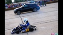 KART KZ-2 vs BMW X6M Lumma. Drag race