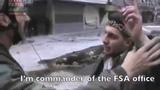 Смелый поступок сирийского офицера Мустафа Шаддуд вышел к боевикам, чтобы поговорить.