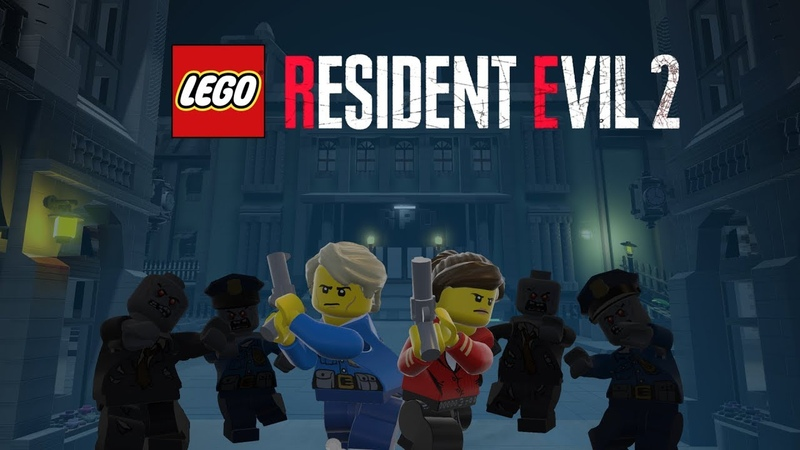New LEGO Resident Evil 2 Leon Gameplay