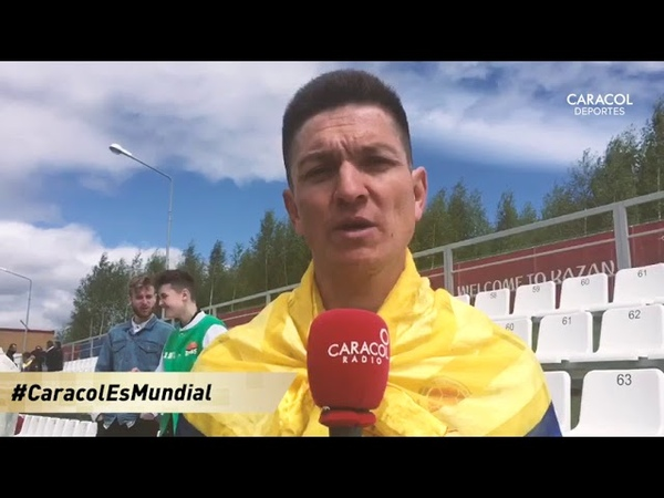 Mundial Rusia 2018 el colombiano que llegó a Moscú en bicicleta