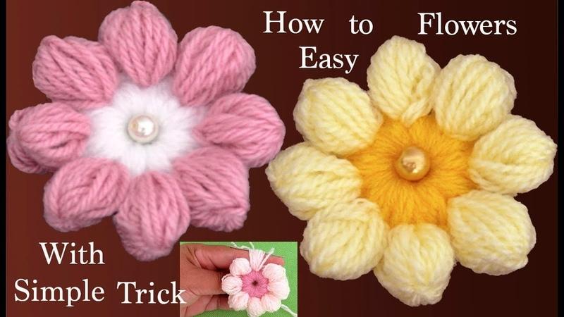 Como hacer flores tejidas a la aguja paso a paso tejido tallermanualperu
