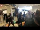 Rihanna no aeroporto de Sydney, Austrália.
