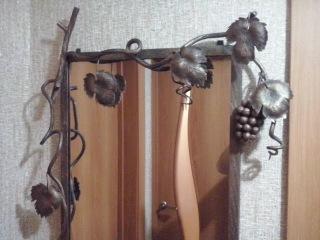 Кованая рамка для зеркала своими руками виноградная лоза патина холодная ковка