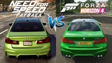 Forza Horizon 4 vs Need For Speed Payback Cars Engine Sounds Direct Comparison