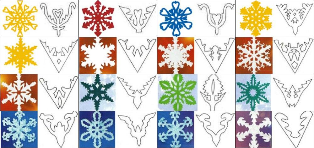 Выпуклые снежинки из бумаги своими руками схемы