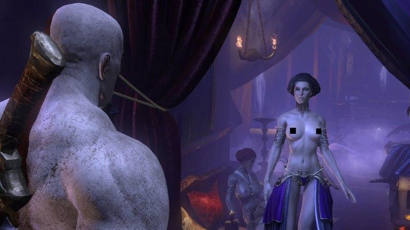 God of War: Ascension - Кратос в борделе с голыми девушками без цензуры Sexy Scene Афродита Hot girls Big tits постельная сцена