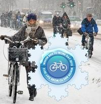 На работу на велосипеде — 13 февраля, Петербург