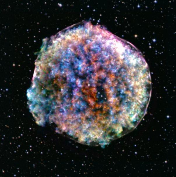 Телескоп получил удивительный снимок остатка взорвавшейся звезды
