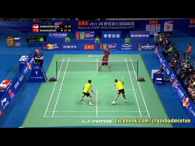 All-You-Can-Eat Smashes Rally (SF XD T Ahmad L Natsir vs Zhang N Zhao YL 2013 BWF Championships)