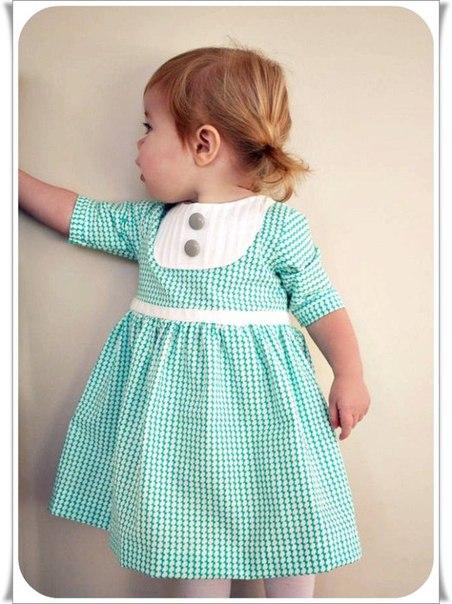 Детское классическое платье для девочки: выкройка и мастер класс по шитью… (9 фото)