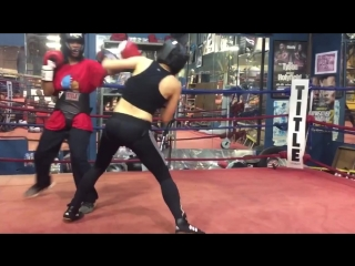 The little Savage first Girl vs Girl sparring
